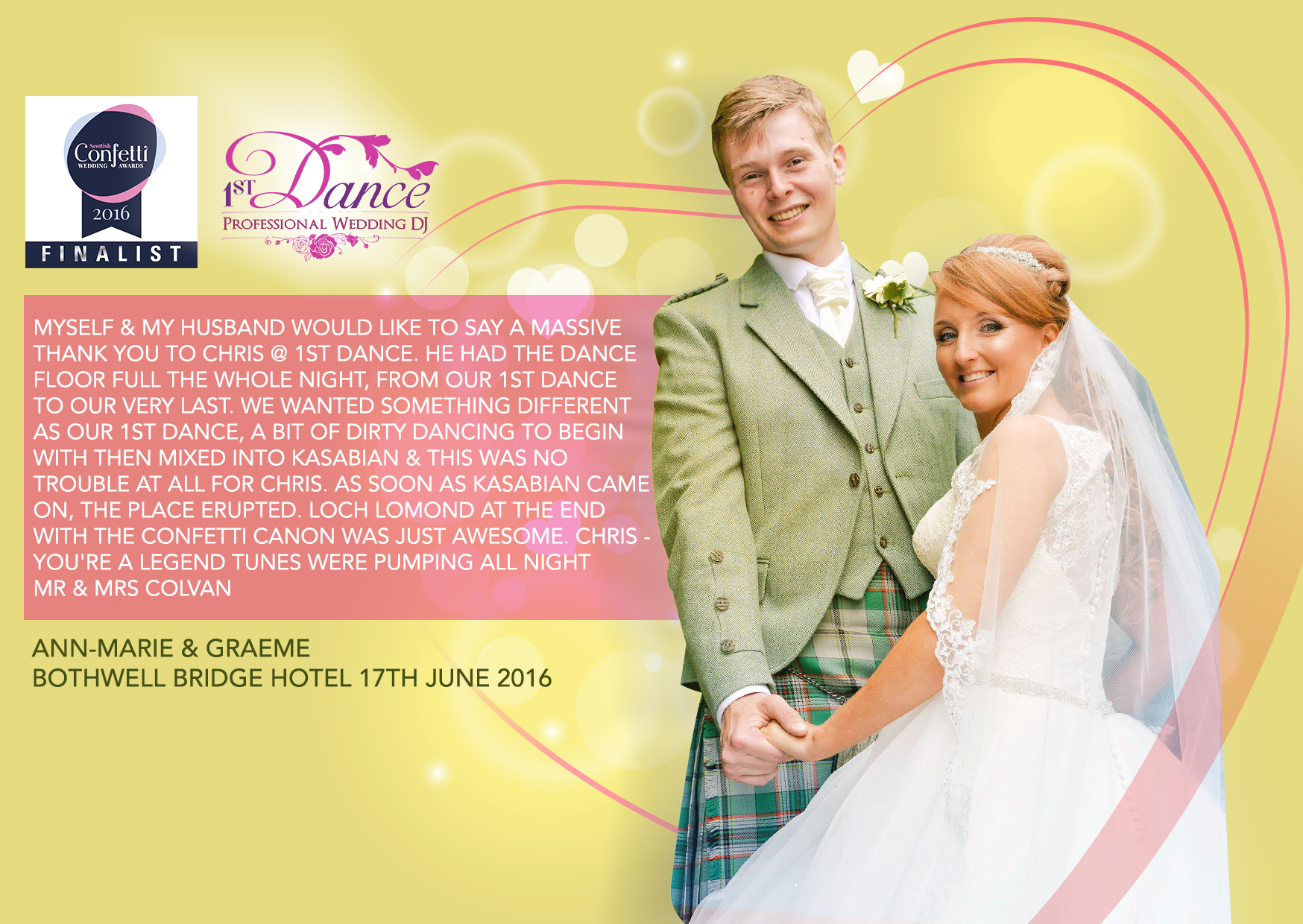 Wedding DJ Lanarkshire